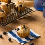Muffin bleuets et fromage cottage