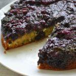 Gâteau renversé bleuets et érable